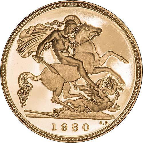 1980 Gold Half Sovereign Elizabeth II Proof 21529