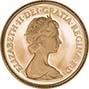 1980 Gold Half Sovereign Elizabeth II Proof 21528