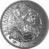 2010 1 oz Silver Coin Britannia Bullion 22185