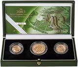 2003 Whole Coin Set Sovereign - 3 Coins Gold Proof Presentation Box