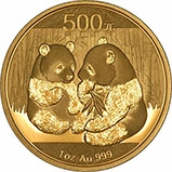 2009 1 oz Gold Coin Panda Bullion 22509