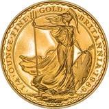 1989 0.25 oz Gold Coin Britannia Proof w/o Box w/o Cert 22749