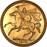 1973 Gold Isle of Man Sovereign Bullion 22967