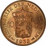 Gold Netherlands 10 Guilders Best Value 22828
