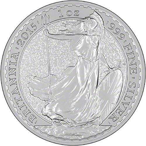 2015 Great Britain Britannia 999 Silver 1 oz Coin UK bulion ounce British JB428