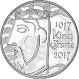 2017 UK Coin £5 / Crown Silver Proof King Canute 20946