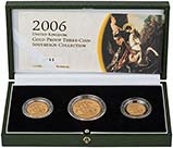 2006 Whole Coin Set Sovereign - 3 Coins Gold Proof Presentation Box