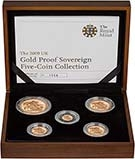 2009 5-Coin Gold Proof Sovereign Set Presentation Box