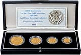 1989 Whole Coin Set Sovereign - Four (4) Coins Gold Proof 20725