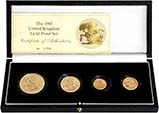 1985 Whole Coin Set Sovereign - Four (4) Coins Gold Proof 22701