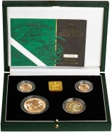 2001 4-Coin Gold Proof Sovereign Set Presentation Box