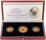 1986 Whole Coin Set Sovereign - 3 Coins Gold Proof 20656