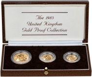 1983 3-Coin Gold Proof Sovereign Set Presentation Box