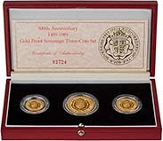 1989 Whole Coin Set Sovereign - 3 Coins Gold Proof 20464