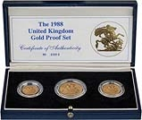 1988 Whole Coin Set Sovereign - 3 Coins Gold Proof 22135