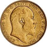 Gold Half Sovereign Edward VII Bullion 21638