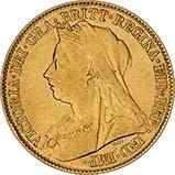 Gold Half Sovereign Victoria Old Head Bullion 23737