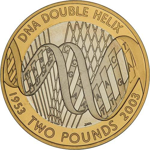 Collectable  Circulated UK £2 Coin 2 pound coin  DNA Double Helix 2003