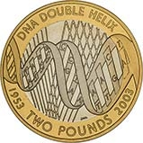 2003 UK Coin £2 Silver Proof DNA 22604