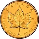 1985 0.25 oz Gold Coin Maple Bullion 25144