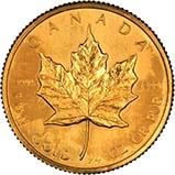 1983 0.25 oz Gold Coin Maple Bullion 21817