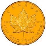 1992 0.25 oz Gold Coin Maple Bullion 22952