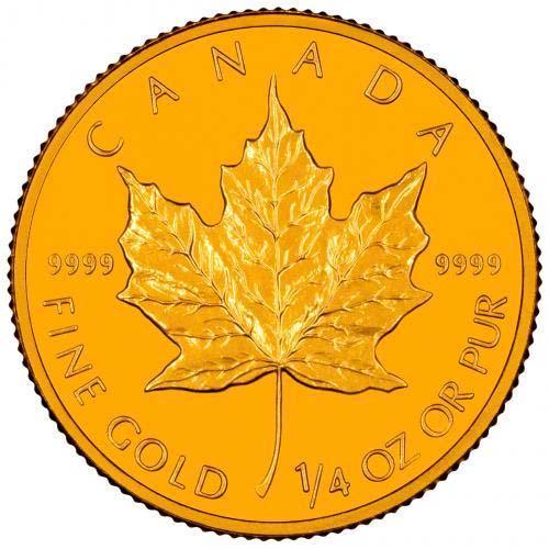 2001 0 25 oz Gold Coin Maple Bullion