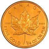 1991 0.25 oz Gold Coin Maple Bullion 23957