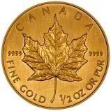 2008 0.5 oz Gold Coin Maple Bullion 23483