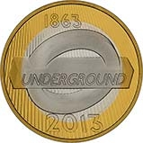 2013 UK Coin £2 Silver Proof London Underground - Roundel 22727