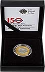 2013 UK Coin £2 Silver Proof London Underground - Roundel 22729