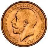 Gold Sovereign George V Bullion 22572