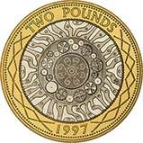 1997 UK Coin £2 Silver Proof Bimetallic 23255