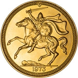 1973 Gold Isle of Man Five Pounds Bullion 22880