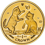 2004 1/5 oz Gold Coin Cat Isle of Man 23163