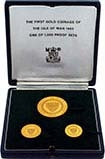 1965   Whole Coin Set Isle of Man - Three (3) Coins Gold Proof Bicentenary of the Revestment Act 24728