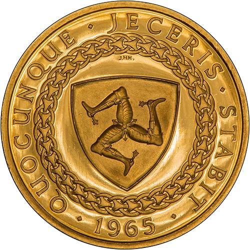 1965   Whole Coin Set Isle of Man - Three (3) Coins Grade C Gold Proof Bicentenary of the Revestment Act 21635