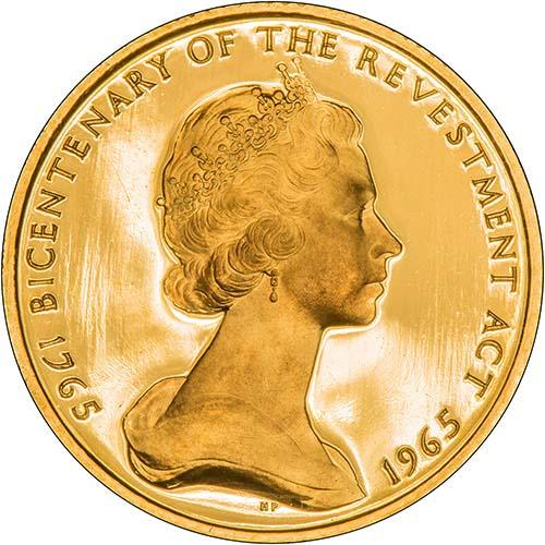 1965   Whole Coin Set Isle of Man - Three (3) Coins Grade C Gold Proof Bicentenary of the Revestment Act 21636