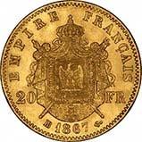 1861- 1870 Gold French 20 Franc Bullion Shield 25071