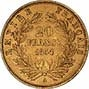 1850-1865 Gold French 20 Franc Bullion Value in Wreath 24356