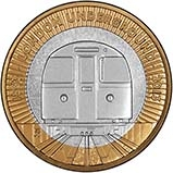 2013 UK Coin £2 Silver Proof London Underground - Train 21836
