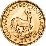 1962 Gold South African 2 Rand Bullion 22374