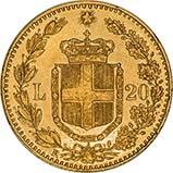 1882 Gold Italian 20 Lire 23636