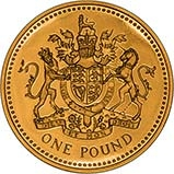2008 UK Coin £1 Gold Proof Royal Coat of Arms 21921