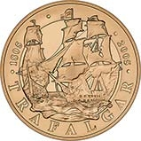 2005 UK Coin £5 / Crown Gold Proof Battle of Trafalgar 20852