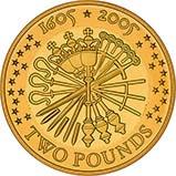 2005 UK Coin £2 Gold Proof Gunpowder Plot 20980