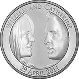2011 UK Coin £5 / Crown Silver Proof Royal Wedding - William and Kate 21452