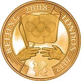 2008 UK Coin £2 Gold Proof Olympics Handover Ceremony 24108