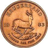 1983 1 oz Gold Coin Krugerrand Bullion 24078