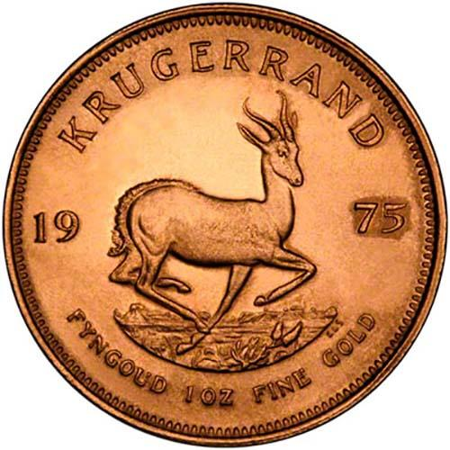1975 1 oz Gold Coin Krugerrand Bullion 25087
